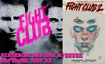Fight Club Screening, Q&A and Signing with Chuck Palahniuk!