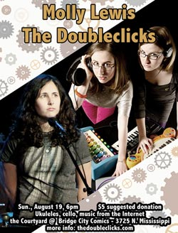 The DoubleClicks and Molly Lewis in concert at Bridge City Comics!
