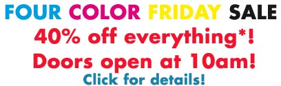 Four Color Friday Sale!